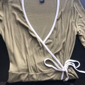 Forever 21 Olive Green Wrap Dress
